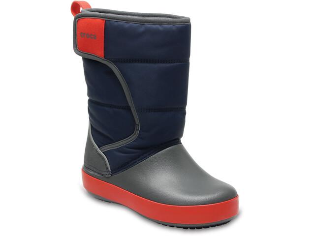 Crocs LodgePoint Snow Boot Kids Navy/Slate Grey